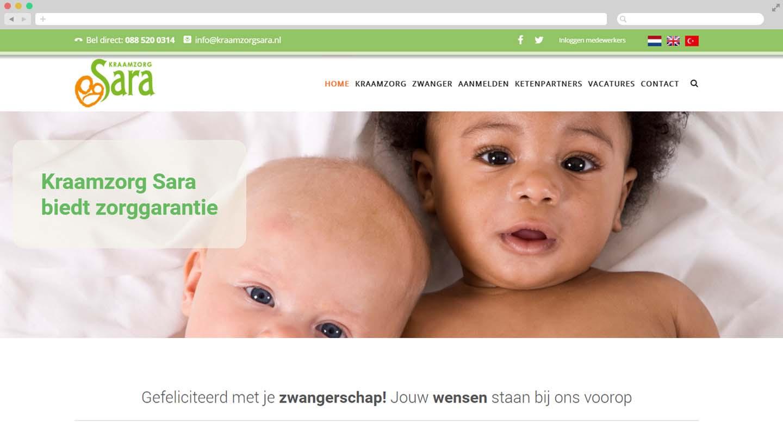 Website Kraamzorg Sara